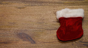 Santa shoe board background Stock Photography