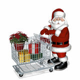 Santa Shopping Royalty Free Stock Image