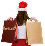 Santa with shopping bags Stock Images