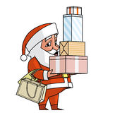 Santa shopping Royalty Free Stock Photos