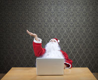 Santa is Shopping Online Royalty Free Stock Photo