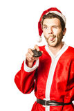 Santa shopping online for xmas presents Stock Images