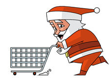 Santa shopping Stock Photo