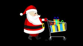 Santa with shopping trolleys.