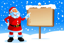 Santa show on the board royalty free stock images