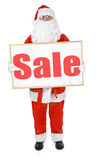 Santa showing bulletin board with Sale inscription Royalty Free Stock Image