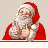 Santa showing okey Royalty Free Stock Image