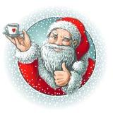 Santa showing okey Stock Image