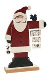 Santa sign. Wooden Santa sign pointing to the North pole Stock Images