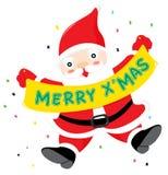 Santa with sign Royalty Free Stock Photos