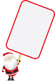Santa and sign Royalty Free Stock Photography