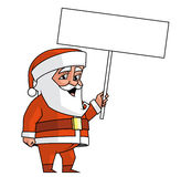 Santa sign Stock Images