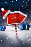 Santa sign in north pole Royalty Free Stock Photos