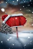 Santa sign in north pole Stock Photo
