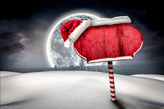 Santa sign in north pole Stock Images