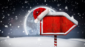 Santa sign in north pole Royalty Free Stock Image