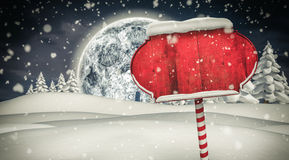 Santa sign in north pole Royalty Free Stock Photography