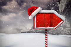Santa sign in north pole Stock Photos
