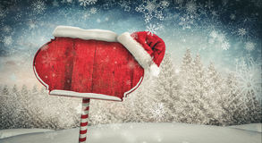 Santa sign in north pole Stock Photography