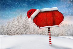 Santa sign in north pole Royalty Free Stock Images