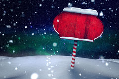 Santa sign in north pole Royalty Free Stock Photo