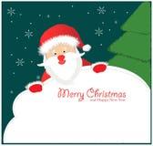 Santa Sign: Santa Claus Imágenes de archivo libres de regalías