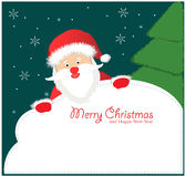Santa Sign: Santa Claus Royalty Free Stock Images