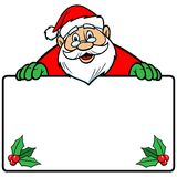 Santa with Sign Royalty Free Stock Photography
