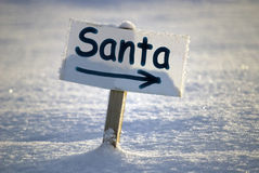 Santa signboard Royalty Free Stock Photography