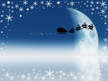 Santa Silhouette Royalty Free Stock Images