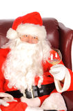 Santa sipping Stock Photography
