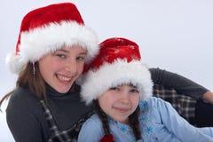 Santa Sisters Royalty Free Stock Images