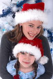 Santa sisters Royalty Free Stock Photography