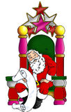 Santa sitting in his chair Royalty Free Stock Photos