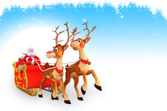 Santa is sitting in sleigh in iceland Stock Images