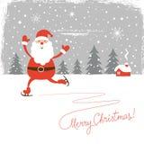 Santa skate Stock Photography