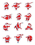 Santa Skating Stock Photography