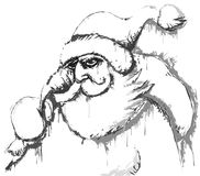 Santa sketch royalty free illustration