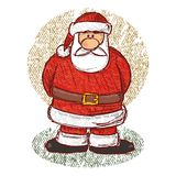 Santa sketch (vector) Stock Photos