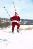 Santa on skies Royalty Free Stock Images