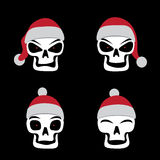 Santa skull emotion Royalty Free Stock Images