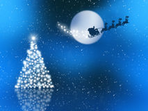 Santa in the sky Royalty Free Stock Photo
