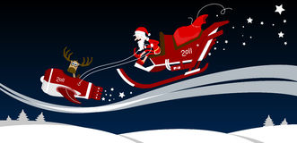 Santa on sledge Royalty Free Stock Image