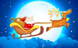 Santa in Sledge Stock Photography