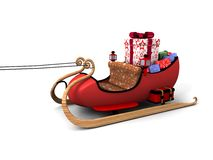Santa sledges Stock Images