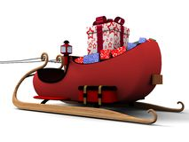 Santa sledges Royalty Free Stock Images