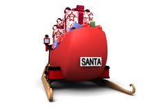 Santa sledges Royalty Free Stock Photography