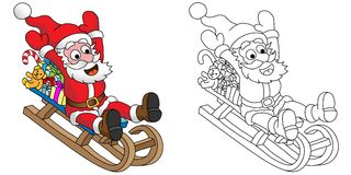 Santa on the sledges Royalty Free Stock Photography