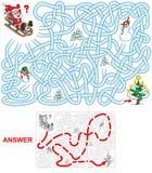 Santa on the sledges. Royalty Free Stock Photos
