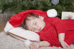 Santa sleeping Stock Image
